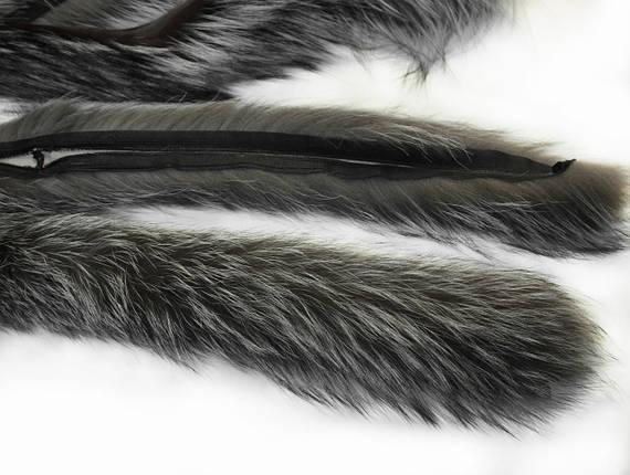 Опушка чернобурка 70 см., фото 2