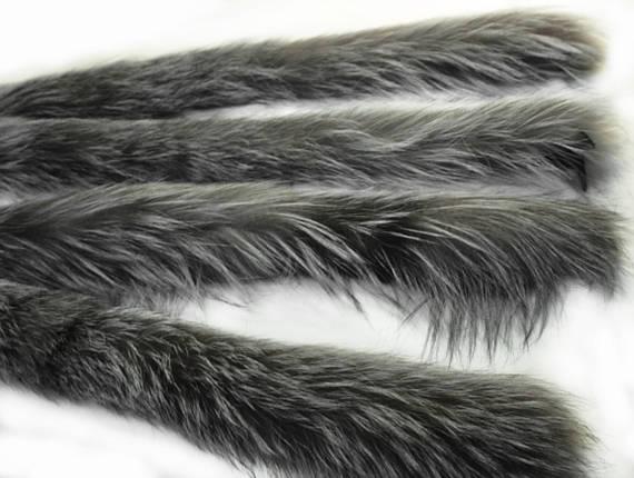 Опушка чернобурка 75 см., фото 2