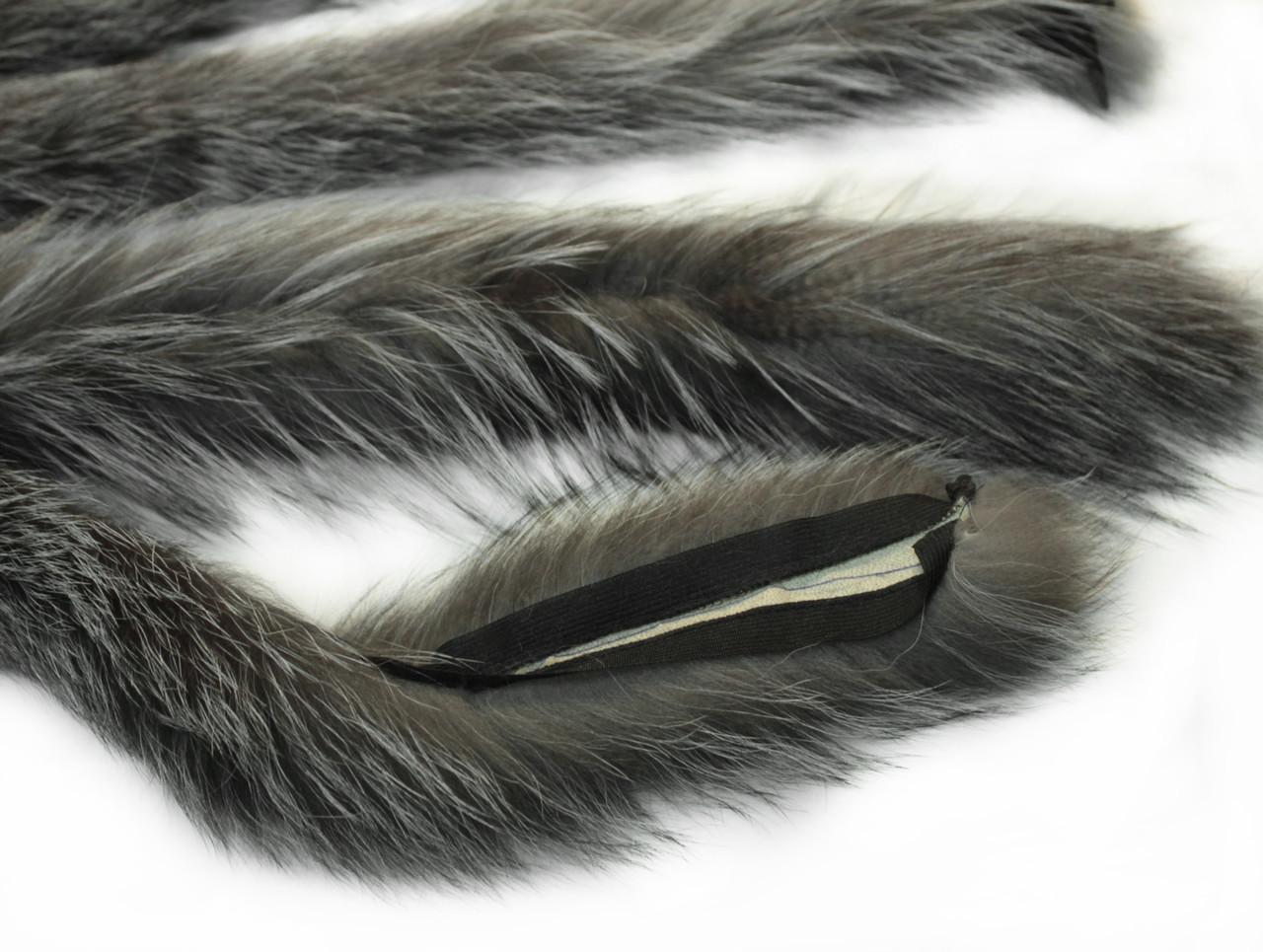 Опушка чернобурка 80 см.