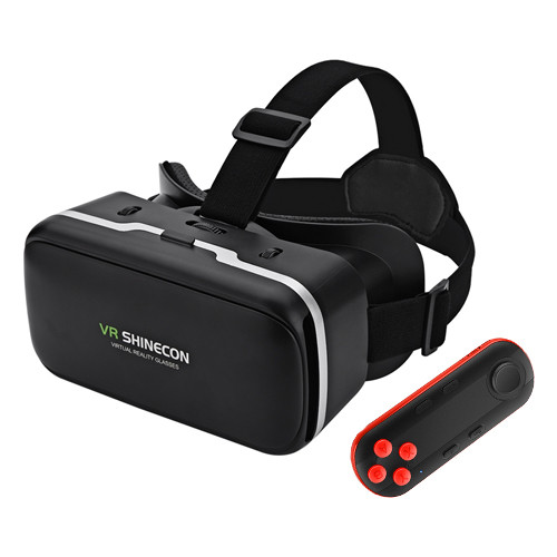VR SHINECON 6.0 очки 3D для смартфона + мини геймпад для телефона