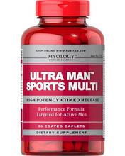 Комплексы витаминов для мужчин, Myology™ Ultra Man™ Sports Multivitamins 90 Caplets
