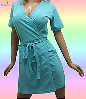 Купить халат женский хлопковый, размер от 44 до 54, Украина Мятный