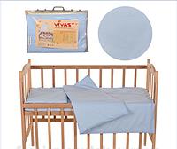 Детское постельное белье сиреневый горошек 5 предметов