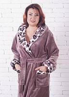 Женский зимний махровый халат 52
