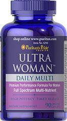 Комплекс витамин и минералов, Puritan's Pride Ultra Woman  90 Caplets