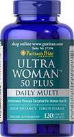 Витамины для женщин 50+ Puritan's Pride Ultra Woman™ 50 Plus Multi-Vitamin 120 Coated Caplets