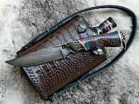 """Подарочный набор для мужчины """"Captain Morgan"""" - с ножом из дамасской стали и ромом (под заказ)"""