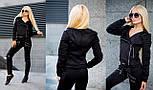 Женский качественный замшевый костюм: замшевая курка-косуха и брюки (6 цветов), фото 3