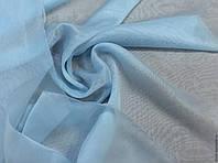 Тюль шифон однотонный голубой