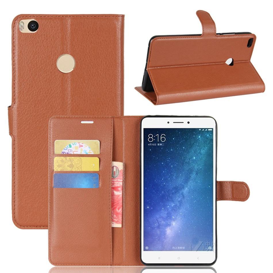 Чехол Xiaomi Mi Max 2 / Mi Max 2 Pro книжка PU-Кожа коричневый