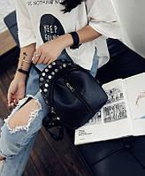 Женский рюкзак маленький черный городской