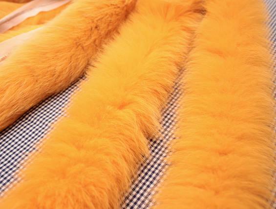Опушка из песца 70 см. оранжевая, фото 2