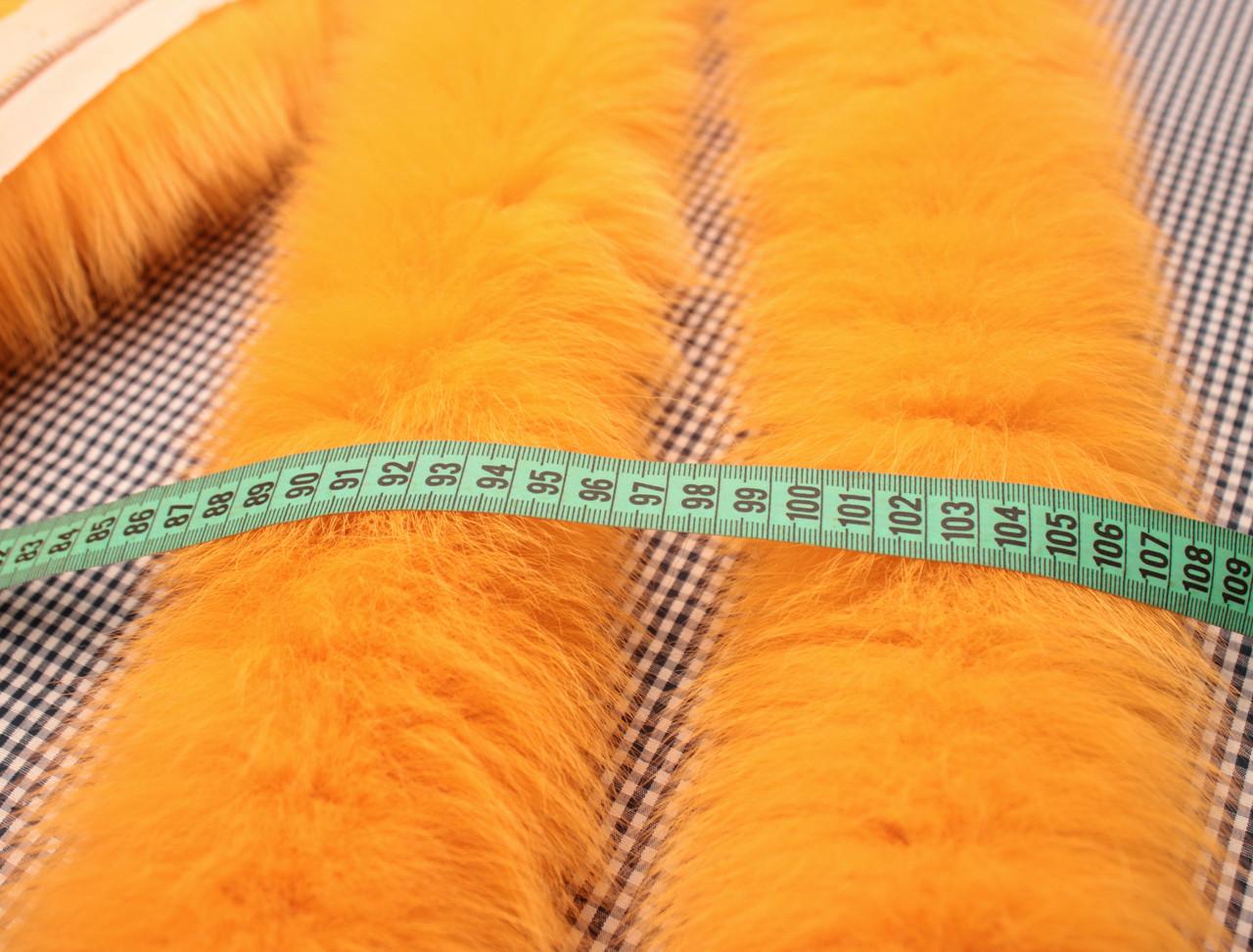 Опушка из песца 70 см. оранжевая