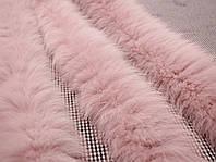 Опушка из песца 70 см. розовая