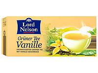 Чай с ванилью зеленый Lord Nelson Green Tea Vanilla 25 пакетов.