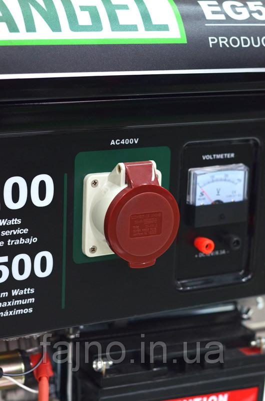 Бензиновый трехфазный генератор Iron Angel EG5500E3