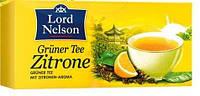 Чай с лимоном зеленый Lord Nelson Green Tea Lemon 25 пакетов.