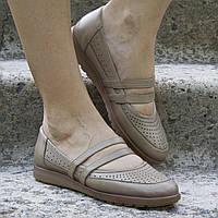 Туфли кожаные tr6023vizon