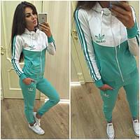 Модный яркий спортивный костюм для девочки Розовый, Синий, Мятный Brooklin