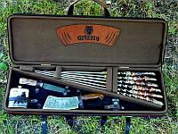 """Подарочный набор в кейсе """"Vip+"""" (шампуры, нож, фляга, топорик, зажигалка) (наличие уточняйте)"""