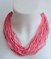:Бижутерия:Стильное ожерелье из бисера, арт. AL-10612_розов
