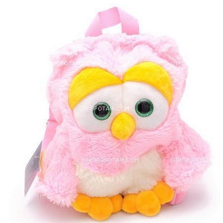 Рюкзак Сова (розовая) B181