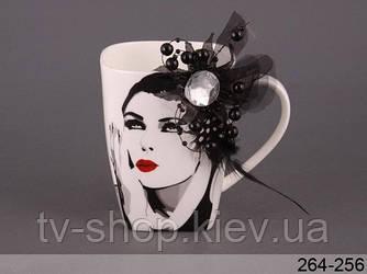 Чашка Дама з квіткою-брошкою Lefard (2 види)