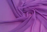 Тюль шифон однотонный лиловый