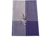 Скатерть с вышивкой лаванды на раскладной стол 150-220 см