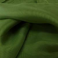 Тюль шифон однотонный оливково зеленый