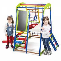Детский развивающий комплекс +горка для дома SportWood Plus 3, фото 1