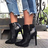 Ботинки женские AVK на шпильке из кожи/замши осень/зима разные цвета AV0031