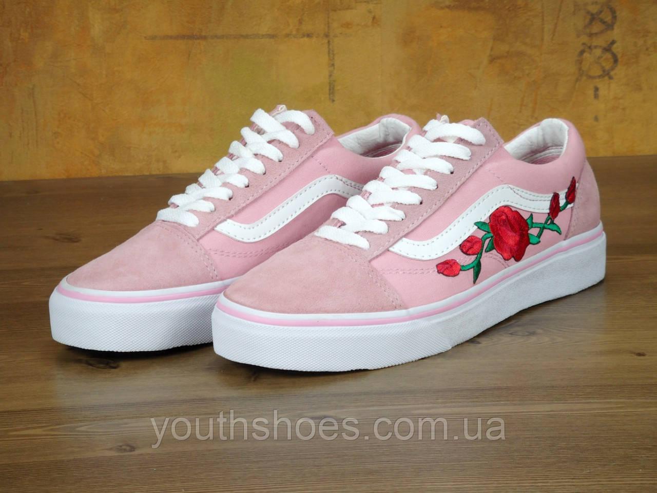 4e26d6d6 Кеды женские Vans Old Skool Pink Roses
