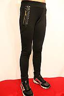 Стрейчевые брюки-леггинсы  для девочек. Черного цвета. Возростная группа от 4 до 12 лет.