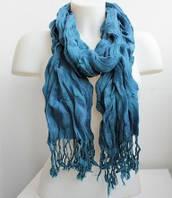:Шарфы:Весна-Осень:Красивый жатый шарфик, арт. Р1411_сизый