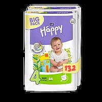 Подгузники Bella Happy 4 Big Pack (8-18 кг) 132 шт