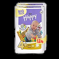 Подгузники Bella Happy Maxi 4+ (9-18) Big Pack 124 шт