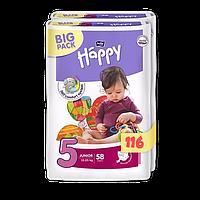 Подгузники Bella Happy 5 Big Pack (9-20 кг) 116 шт