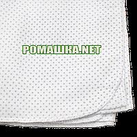 Белая в горошек детская ситцевая пеленка 110х90 см для пеленания новорожденного тонкая 3115-27 Синий