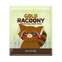Гидрогелевая маска для лица Gold Racoony Secret Key