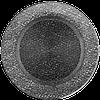 Решітка для каміна кругла бежева, графітовий, чорний, мідний, чорно золота, срібна Ø 150