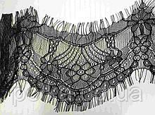 Кружево черное с ресничками (ширина 7,5см)1 лента-2,9м