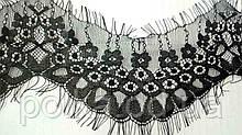 Кружево черное с ресничками (ширина 7,5см)1 лента-4,8м