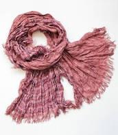 :Шарфы:Весна-Осень:Модный жатый шарф оптом Киев, арт.R862_темно-лосось