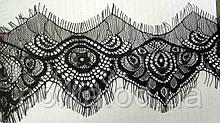 Кружево черное с ресничками (ширина 7,5см)1 лента-2,4м