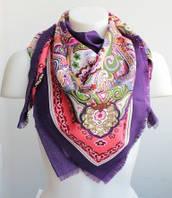 :Платки:Платки из Вискозы:Стильный платок-шаль, арт. С128_фиолет