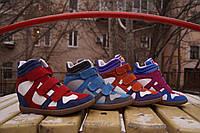 Женские яркие сникерсы, кроссовки на липучке. Разные цвета
