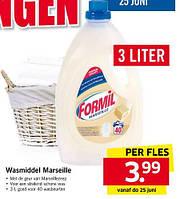 Жидкий порошок для стирки цветного и белого белья Formil Marseille 3 л.