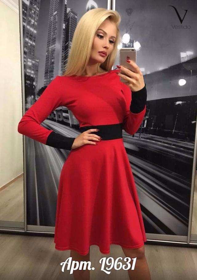 Женское расклешенное платье