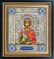 Святой Игорь икона  скань